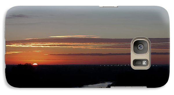 Galaxy Case featuring the photograph Vanishing Sunset by Maj Seda