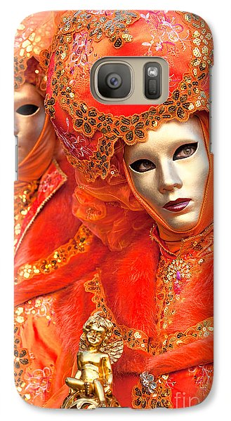 Galaxy Case featuring the photograph Venice Masks by Luciano Mortula