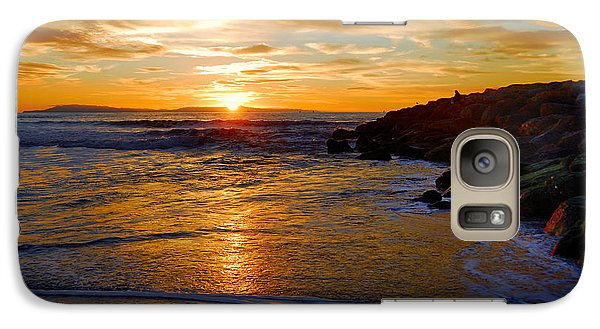 Galaxy Case featuring the photograph Ventura Beach Sunset by Lynn Bauer
