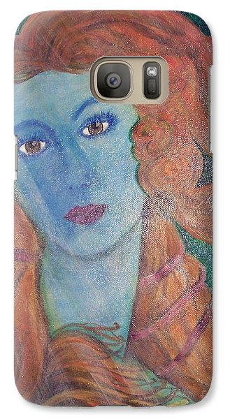 Galaxy Case featuring the painting Venus's Haze by Lucia Grilletto
