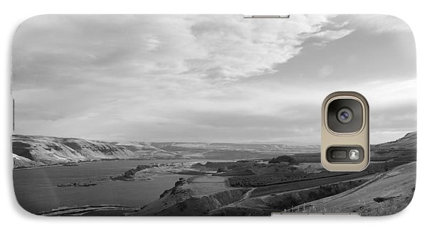 Galaxy Case featuring the photograph View From The Hill Columbia River by Kathleen Grace