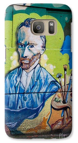Galaxy Case featuring the digital art Vincent On The Wall by Carol Ailles