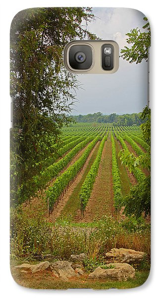 Galaxy Case featuring the photograph Vineyard On The Bench by John Stuart Webbstock