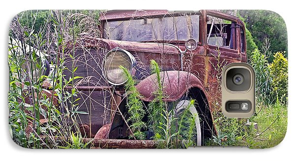 Galaxy Case featuring the photograph Vintage Automobile by Susan Leggett