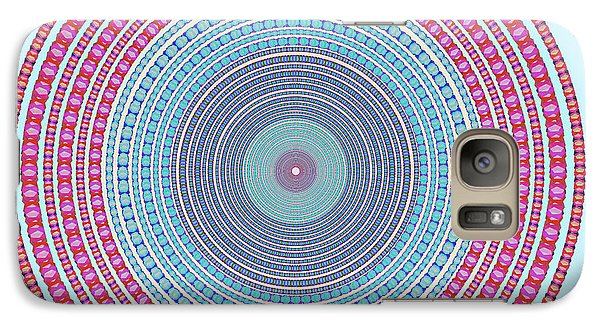 Fantasy Galaxy S7 Case - Vintage Color Circle by Atiketta Sangasaeng