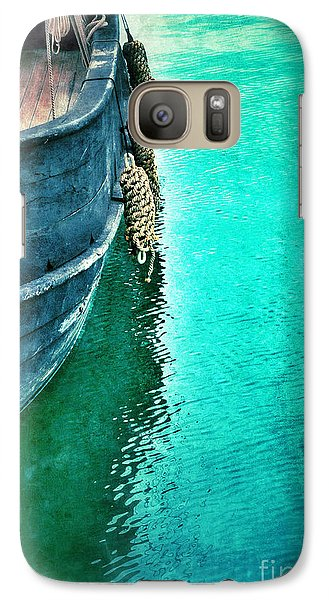 Vintage Ship Galaxy Case by Jill Battaglia