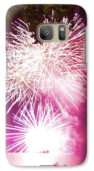 Galaxy Case featuring the photograph Violet Explosion by JM Photography