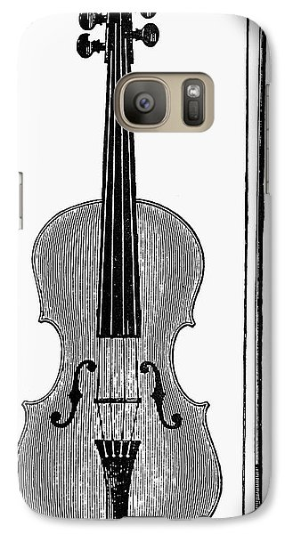 Violin Galaxy S7 Case - Violin And Bow by Granger