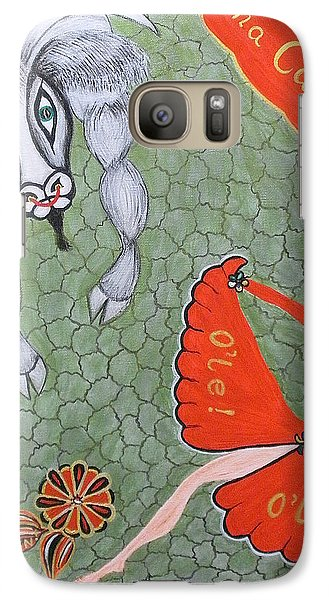 Galaxy Case featuring the painting Viva Dona Carmen by Marie Schwarzer