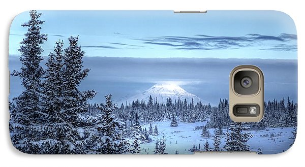 Galaxy Case featuring the photograph Volcano In The Clouds by Michele Cornelius