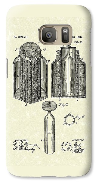 Voltaic Battery 1887 Patent Art Galaxy S7 Case