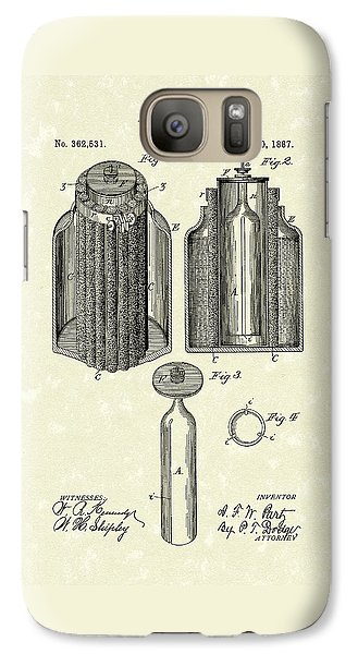 Voltaic Battery 1887 Patent Art Galaxy S7 Case