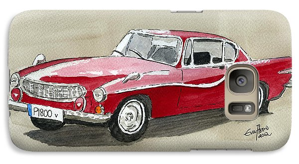 Galaxy Case featuring the painting Volvo P1800 by Eva Ason
