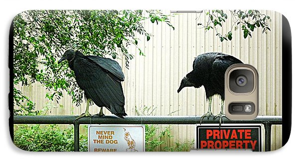 Galaxy Case featuring the photograph Vultures Guarding Property by Renee Trenholm