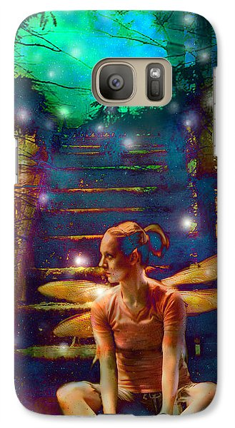 Galaxy Case featuring the photograph Waiting At The Gates Of Dawn by Nada Meeks
