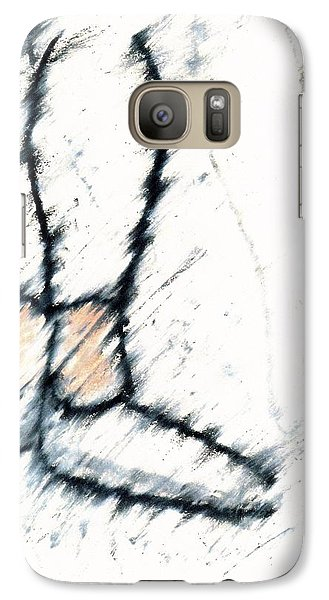 Galaxy Case featuring the drawing Waiting For The Concert by Patrick Morgan