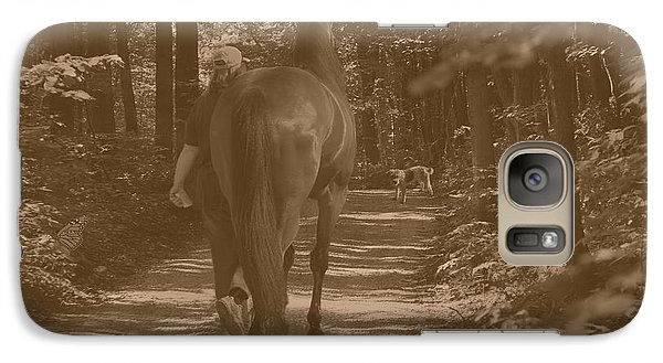 Galaxy Case featuring the photograph Walk Down Memory Lane by Davandra Cribbie
