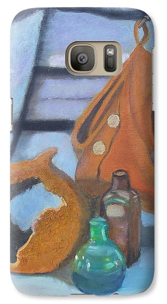 Galaxy Case featuring the painting Walk Softly by Margaret Harmon