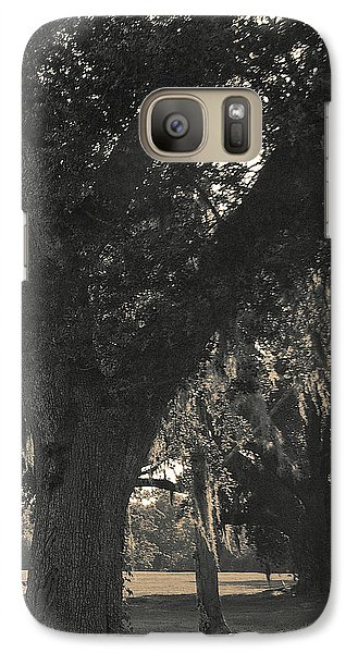 Galaxy Case featuring the photograph Walk Through The Oaks by Brian Wright