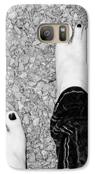 Galaxy Case featuring the photograph Walking Barefoot by Ester  Rogers