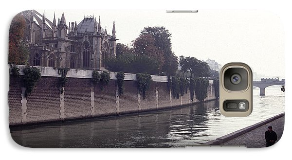 Galaxy Case featuring the photograph Walking The Dog Along The Seine by Tom Wurl