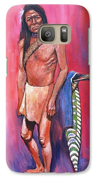 Galaxy Case featuring the painting Warrior by Charles Munn
