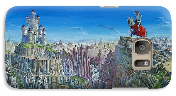 Galaxy Case featuring the painting Warrior On The Striding Edge by Anthony Lyon