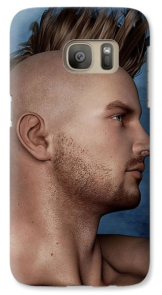 Galaxy Case featuring the painting Warrior Portrait by Maynard Ellis