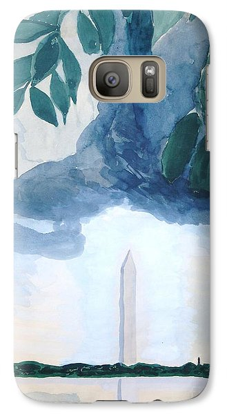 Galaxy S7 Case featuring the painting Washington Monument by Rod Ismay