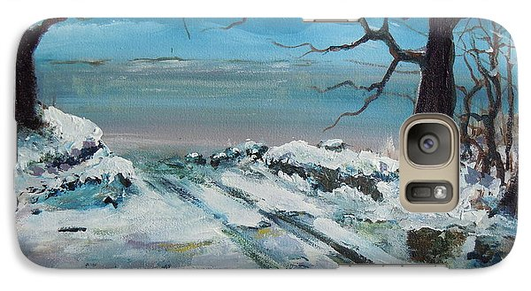 Galaxy Case featuring the painting Washoe Winter by Dan Whittemore