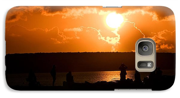 Galaxy Case featuring the photograph Watching Sunset by Yew Kwang