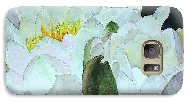 Galaxy Case featuring the painting Water Lily by Mary Kay Holladay