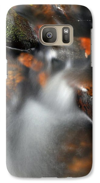 Galaxy Case featuring the photograph Water Over Rocks by Kay Lovingood