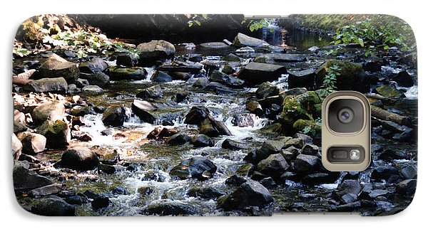 Galaxy Case featuring the photograph Water Over Rocks by Maureen E Ritter