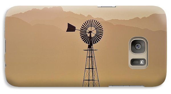 Galaxy Case featuring the photograph Water Pump Windmill by Werner Lehmann
