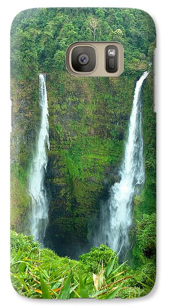 Galaxy Case featuring the photograph waterfall in Laos by Luciano Mortula