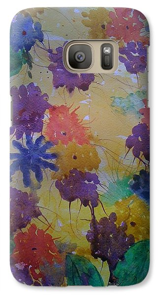 Galaxy Case featuring the painting Waterflowers by Judi Goodwin