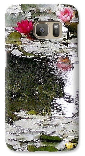 Galaxy Case featuring the digital art Waterlilies by Victoria Harrington