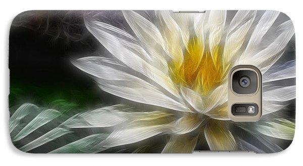 Galaxy Case featuring the digital art Waterlily In Pseudo-fractal by Lynne Jenkins