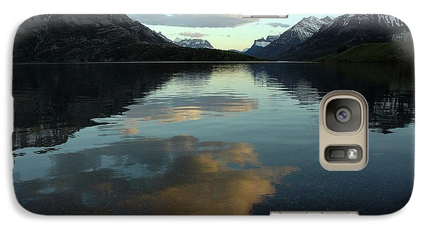 Galaxy Case featuring the photograph Waterton Lake Sunset Canada by Vivian Christopher