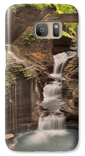 Galaxy Case featuring the photograph Watkins Glen Gorge by Cindy Haggerty