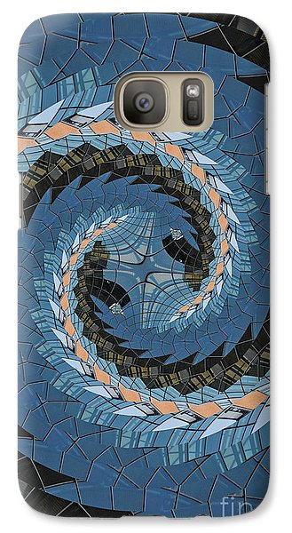 Wave Mosaic. Galaxy S7 Case by Clare Bambers