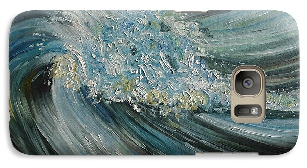 Galaxy Case featuring the painting Wave Whirl by Julie Brugh Riffey