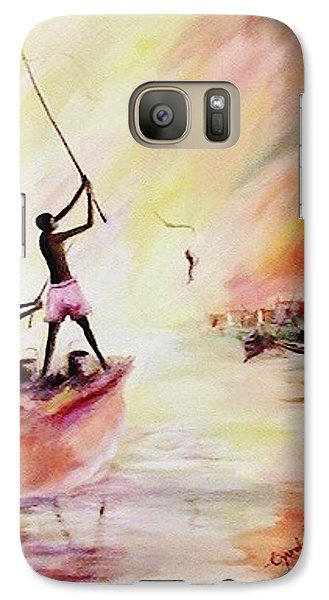 Galaxy Case featuring the painting We Fished by Oyoroko Ken ochuko