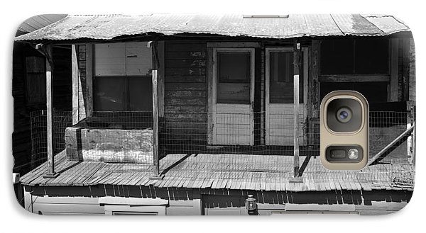 Galaxy Case featuring the photograph Weathered Home With Satellite Dish by Shane Kelly