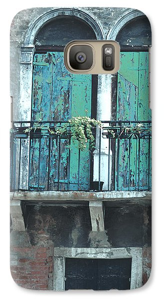 Galaxy Case featuring the photograph Weathered Venice Porch by Tom Wurl