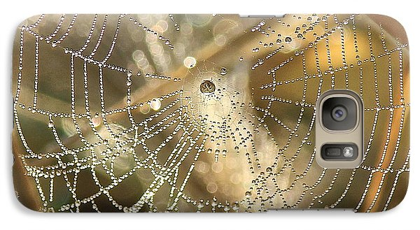 Galaxy Case featuring the photograph Web Of Jewels by Penny Meyers