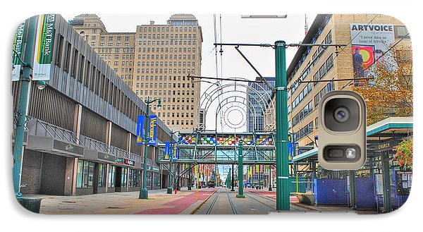 Galaxy Case featuring the photograph Welcome To Dt Buffalo by Michael Frank Jr
