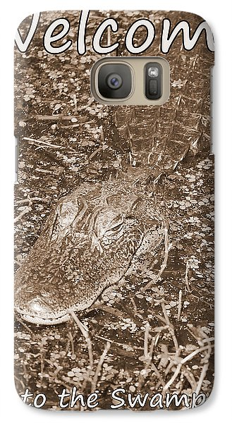 Welcome To The Swamp - Sepia Galaxy S7 Case by Carol Groenen
