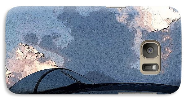 Galaxy Case featuring the photograph Welcome To Thunderstorm Cafe by Carolina Liechtenstein